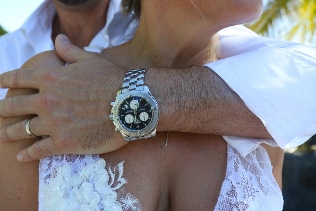 plan serré mariage ile maurice main marié